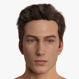 male character realistic hair max