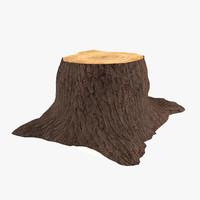 3d tree trunk