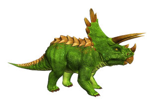 3d triceratops dinosaurs