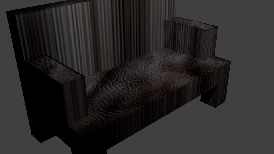 leather lounge 3d 3ds