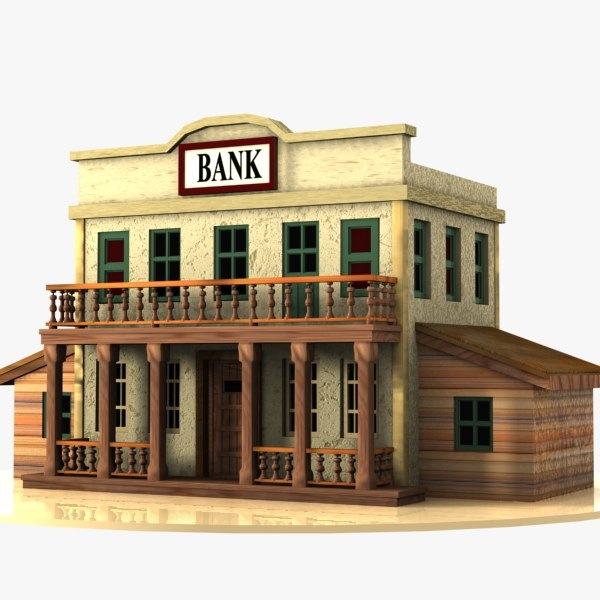 3d 3ds cartoon western building