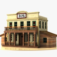 Cartoon Western Building 3 (Bank)