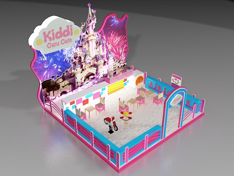 3d model booth exhibition stand