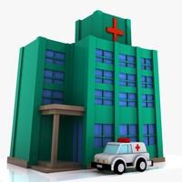 3d car hospital model