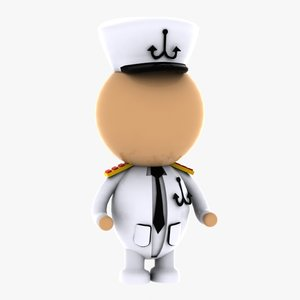 3d captain character