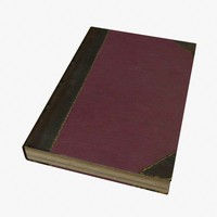 3d model of hardcover
