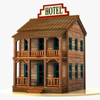 Cartoon Western Building 2 (Hotel)