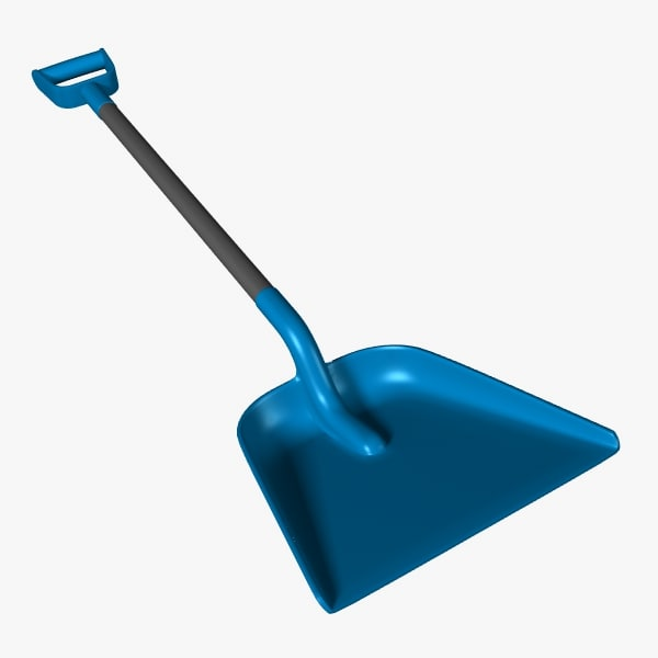 shovel snow 3d lwo