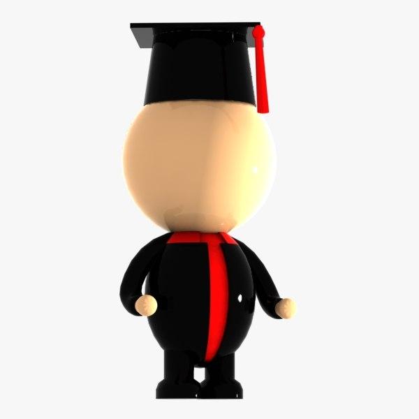 3d model student character