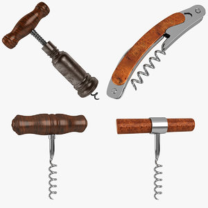 3d model corkscrew cork screw