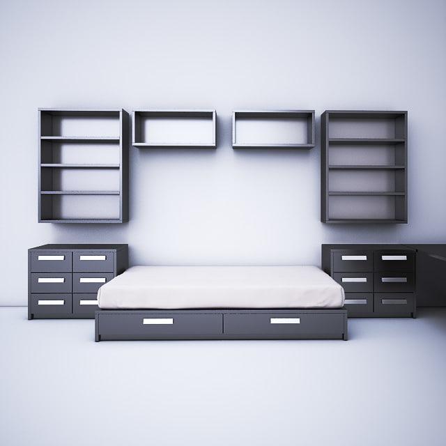 children furniture bedroom 3ds