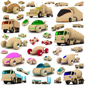 max wooden toy cars trucks