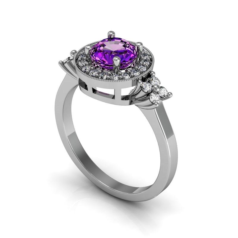 3d model diamond ring