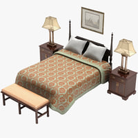 3d model bedroom furniture set