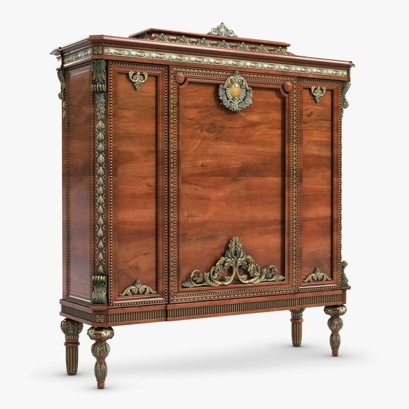 chest drawers bertolini arte 3d model