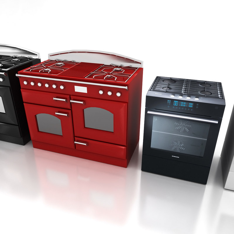 3d oven cooker selection model
