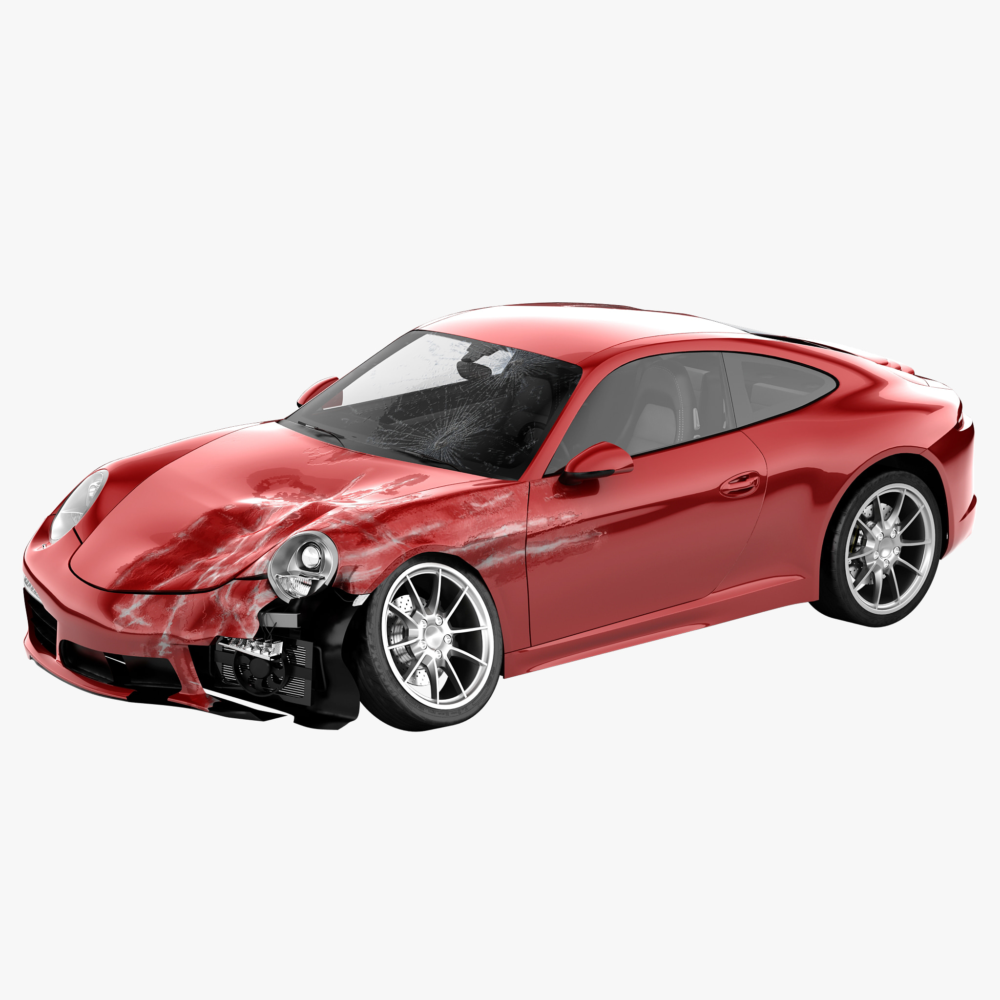 3ds crushed porsche 911 carrera