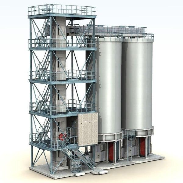 fuel plants 3d obj