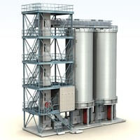 fuel plants 3d obj