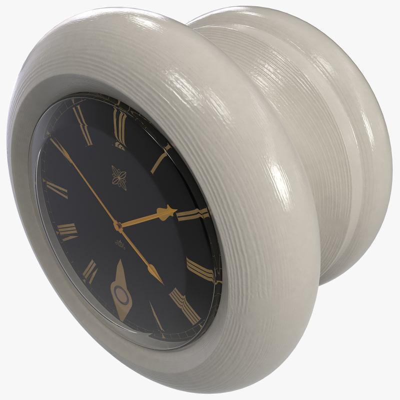 3d 3ds door knob clock