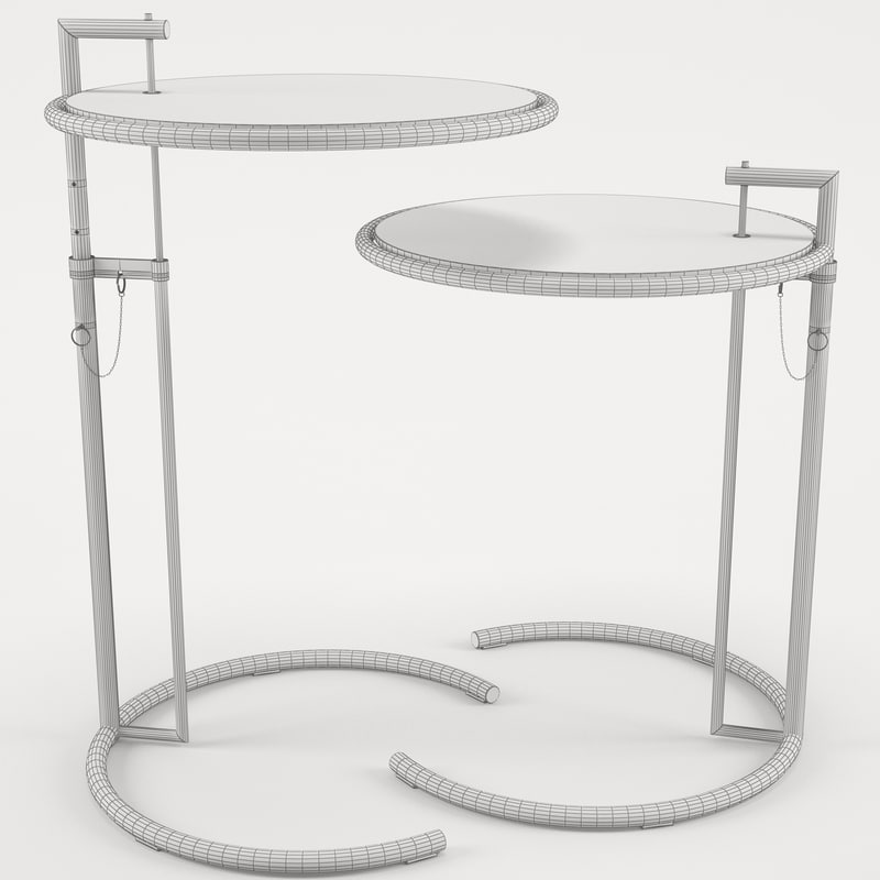 Eileen Gray Adjustable Table gray adjustable table 3d 3ds