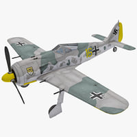 Focke Wulf Fw 190 German WWII Fighter Aircraft 2