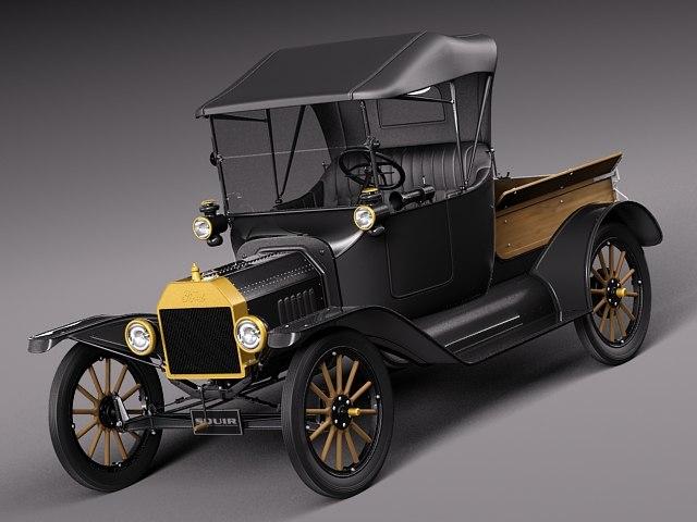 car classic antique pickup 3d model