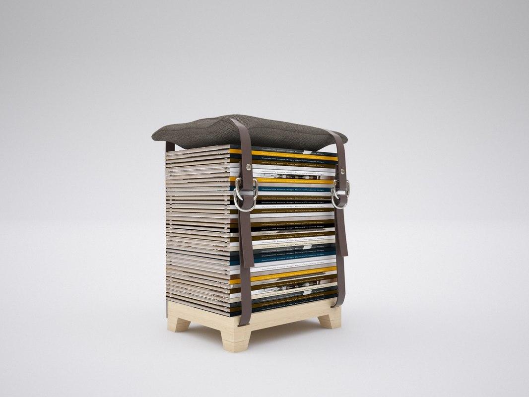 3d model hockenheim chair stool