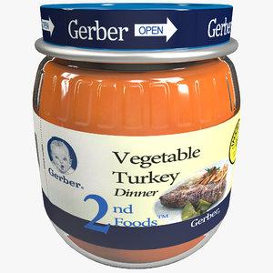 3d gerber baby food bottle