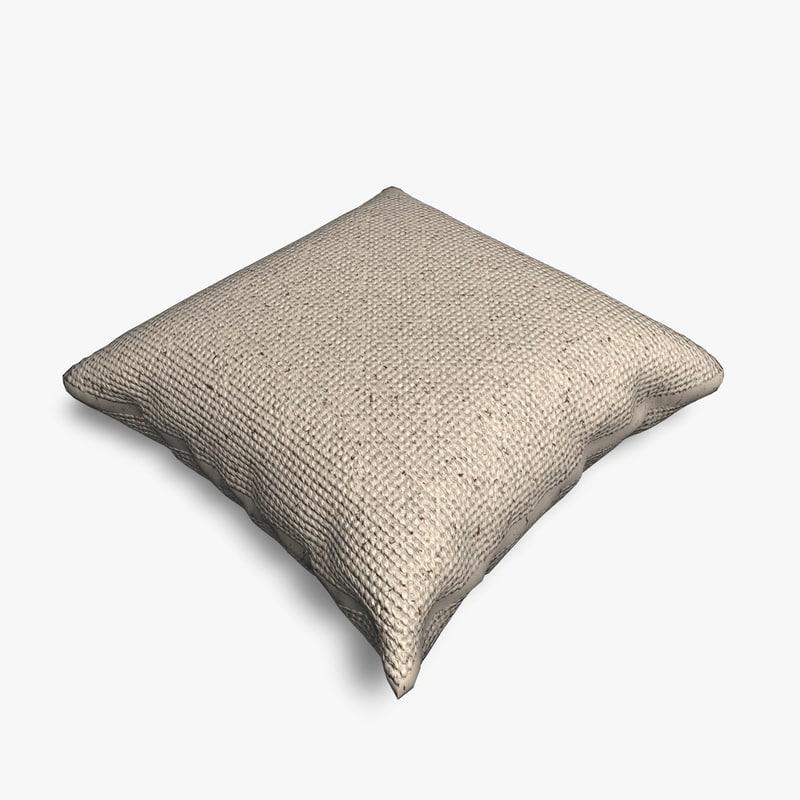 3d model simple cushion