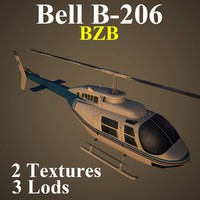 3d model bell bzb helicopter