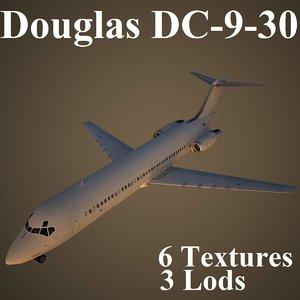 3ds max douglas dc-9-30 air