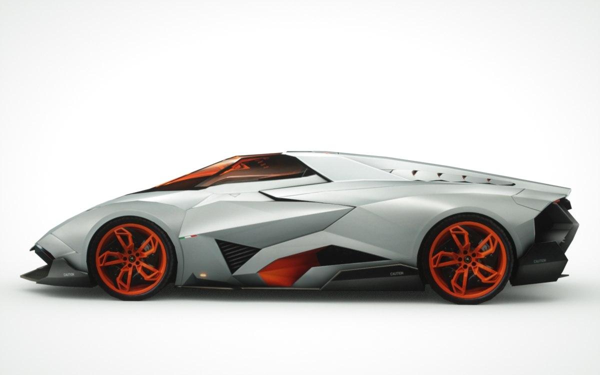 3d Lamborghini Egoista Model
