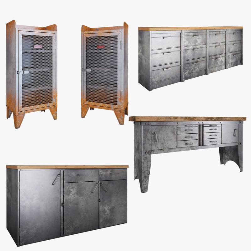 metal furniture obj