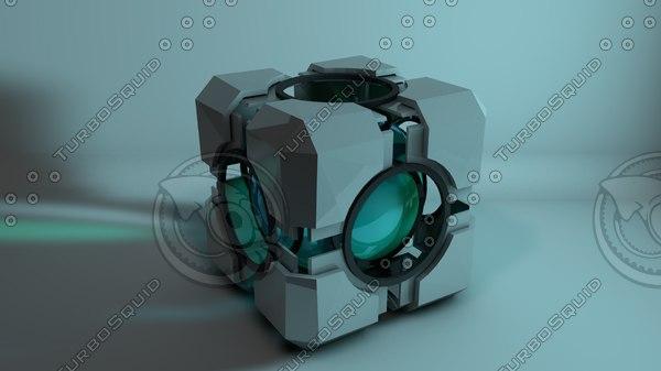 refraction cube portal 3d c4d