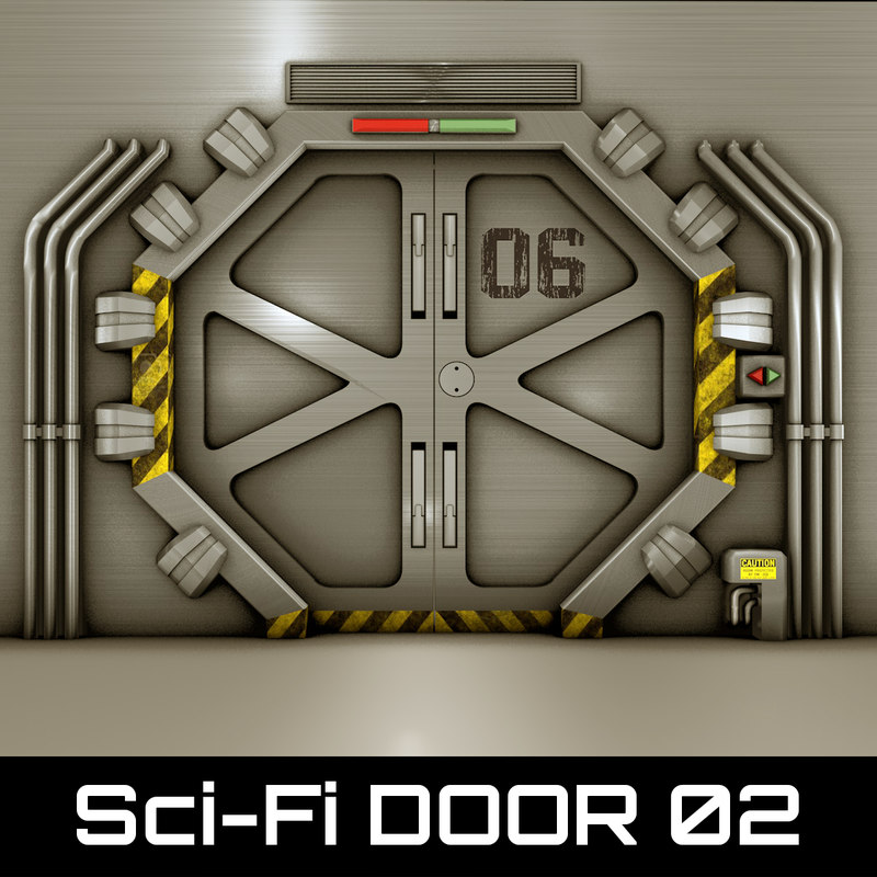Technological door 3d 3ds for Space blast 3d