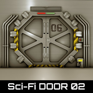 technological door 3d 3ds