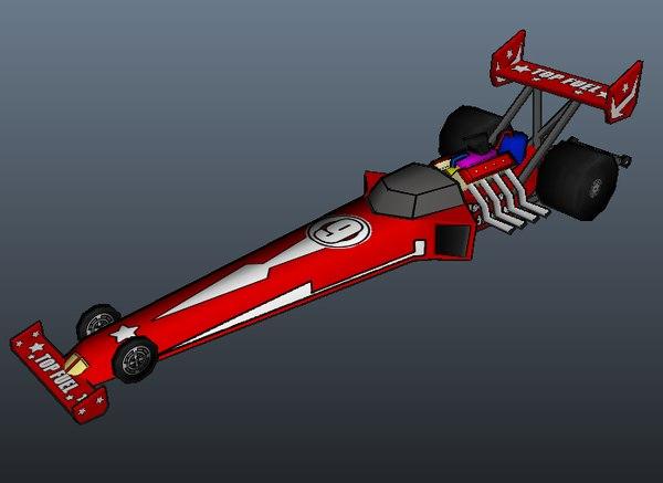 maya dragster car