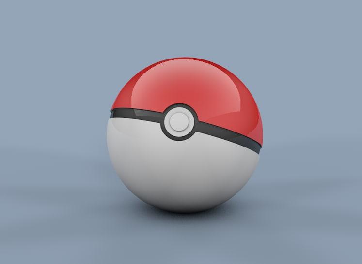 free pokeball 3d model