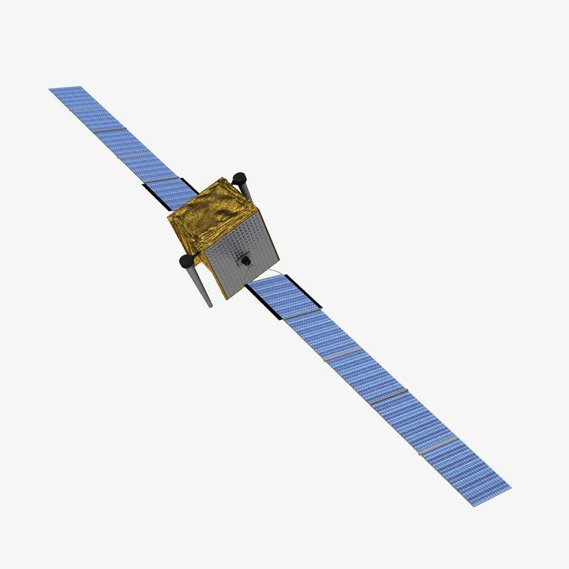 3d model skynet5 communications satellite