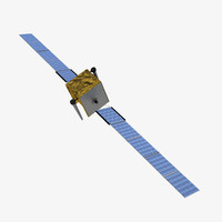 3d model skynet5 communications satellite