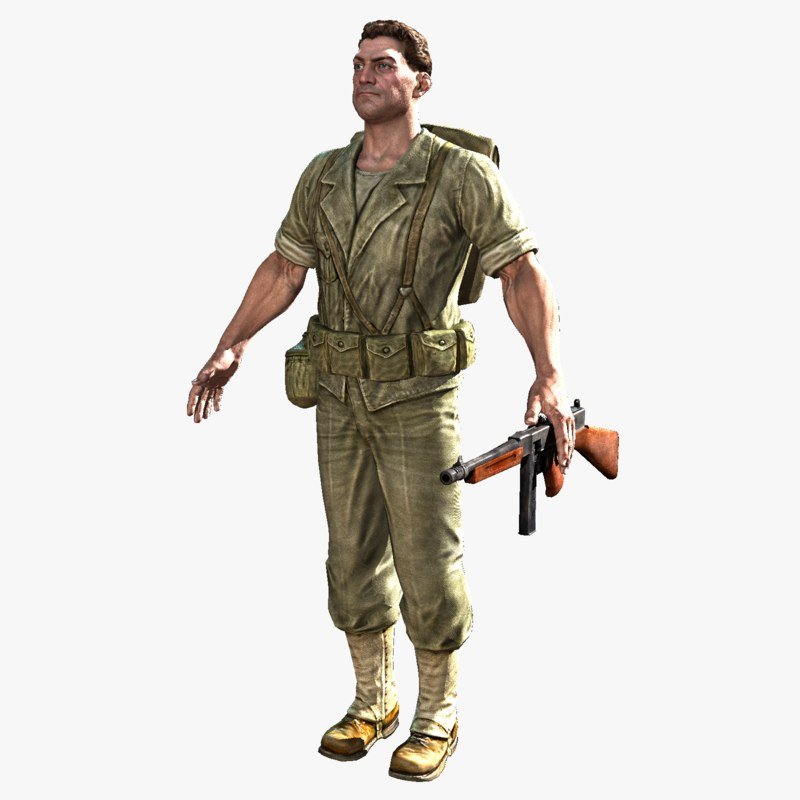 3d real-time soldier ben 2 model