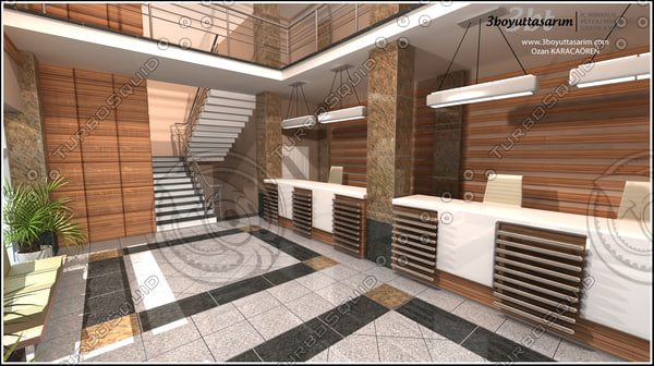 3d designed government building hall
