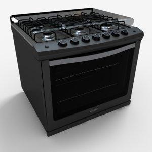 3d model we5850d stove