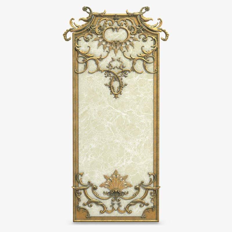 Wall frame decor 3d max for 3d model decoration