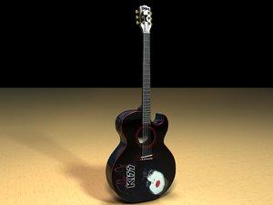 washburn ps11e acoustic guitar 3d model