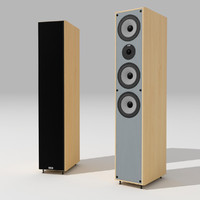 heco xenon-600 loudspeakers 3d 3ds