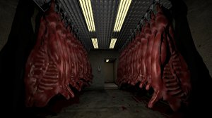 abattoir environment 3d obj