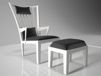 3d armchair 001 model