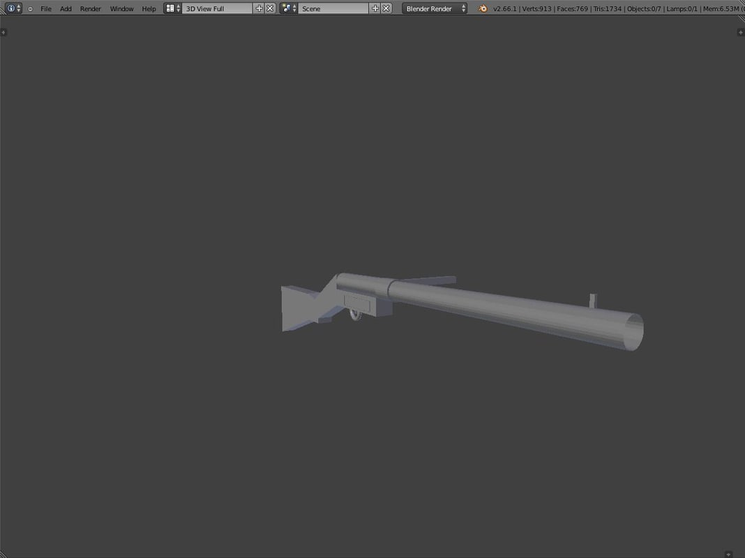 mp18 sub machine gun 3d model